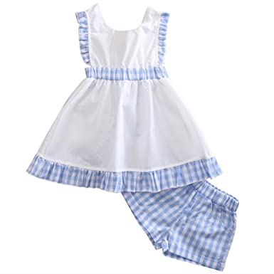 Trachten Baby Kleid Plus Hose Gr 80 6 12 Monate Blau Weiss