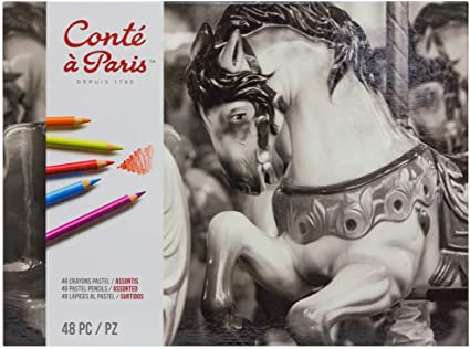 Conte a Paris Drawing Set of 12 Assorted Graphite Pencils in Tin