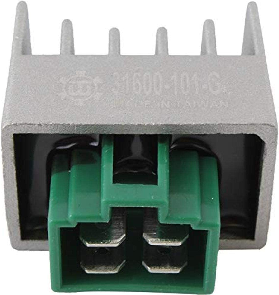 DB Electrical AYA6027 Voltage Regulator Compatible With//Replacement For Yamaha RT180 TT90 125E TTR230 TTR90 TTR90E Razz SH50 AP8224102 ESP10054 2728107000 31600-KRM-851 21066-0029 21066-0046 SH681-12