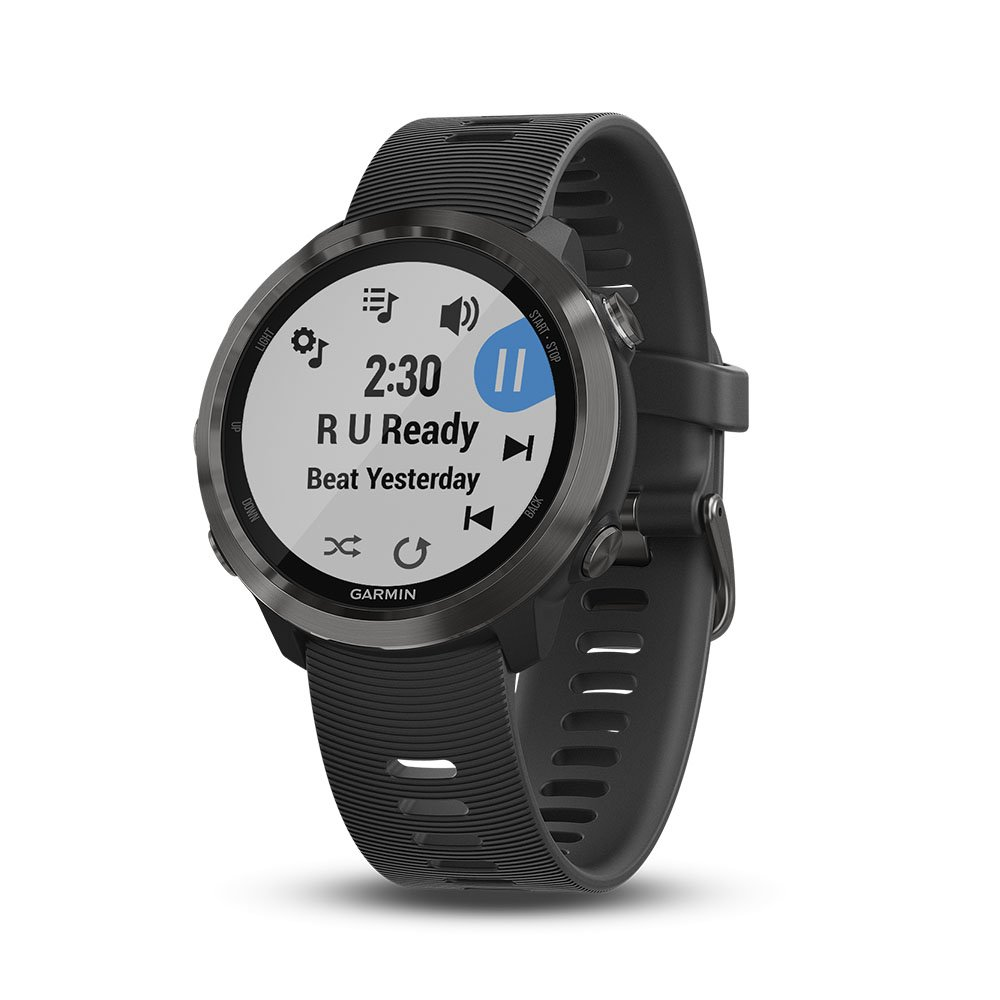 Garmin Forerunner 645 Music, GPS Running Watch with Garmin Pay contactless payments, Wrist-Based Heart Rate and Music, Slate, 010-01863-22
