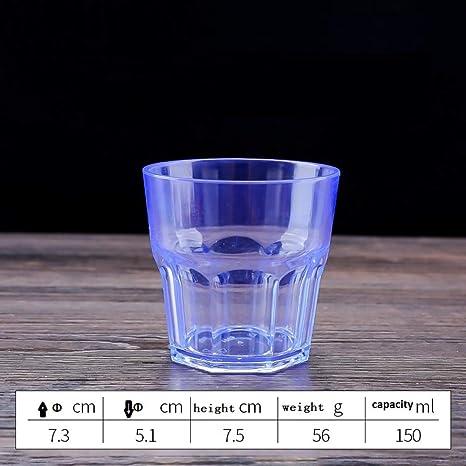 Amazon.com: Juego de 6 tazas de cristal acrílico de 5.1 fl ...