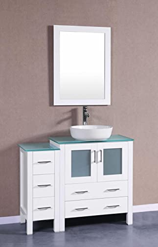 "Bosconi AW130BWLCWG1S 42"" Single Vanity"