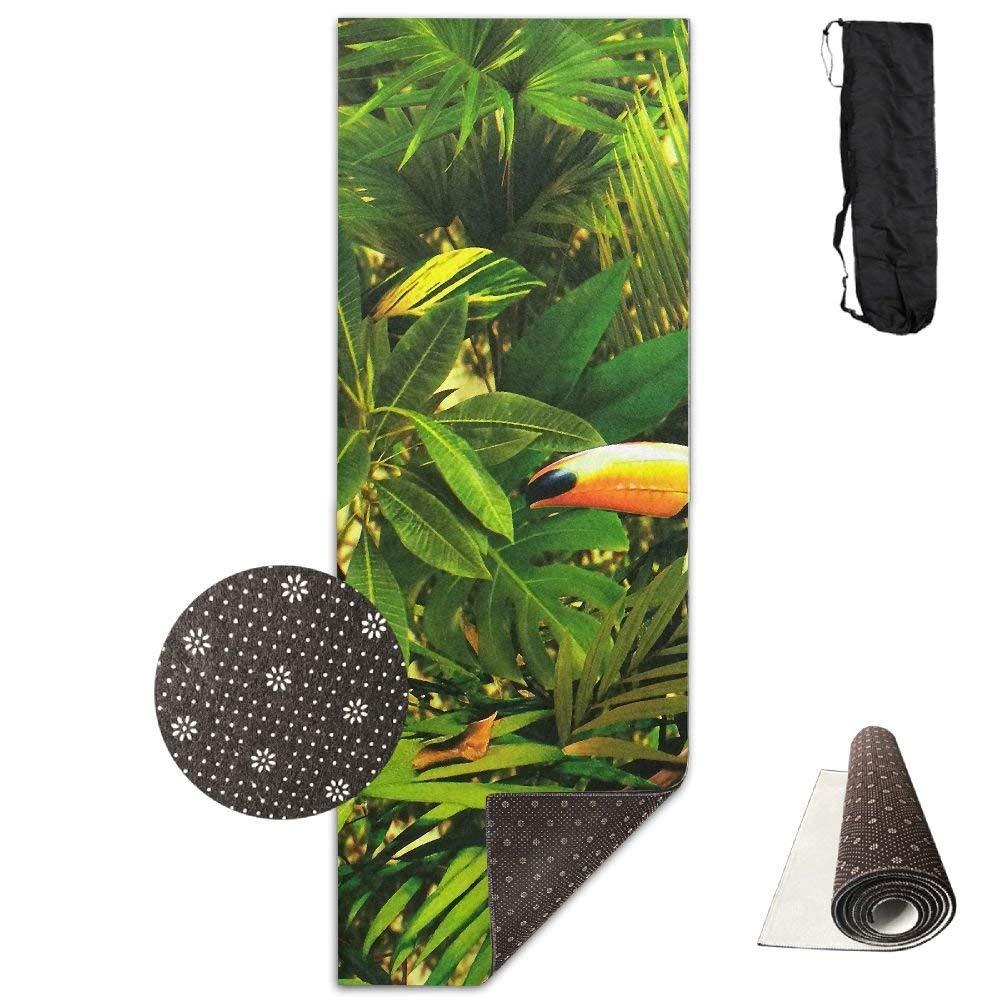 Tropical Jungle Parrot Deluxe,Yoga Mat Aerobic Exercise Pilates Anti-slip Gymnastics Mats