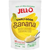 Jell-O Simply Good Banana Instant Pudding Mix 3.4 Ounce Bag (Pack of 12)