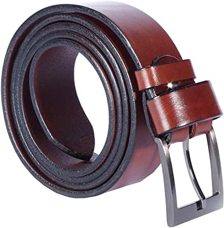 Women Ladies Leather Belt – Genuine Quality Vegetable Tanned Leather - Crafted in Europe – Many Colours and Lengths - 1.57inch / 4cm Wide (180 - Chocolate Brown / 110 cm - 43.3 inch)