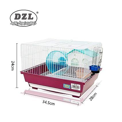 DI ZE LIN PET HOME S.L DZL® Jaula para Hamster 34.5 * 28 * 25cm