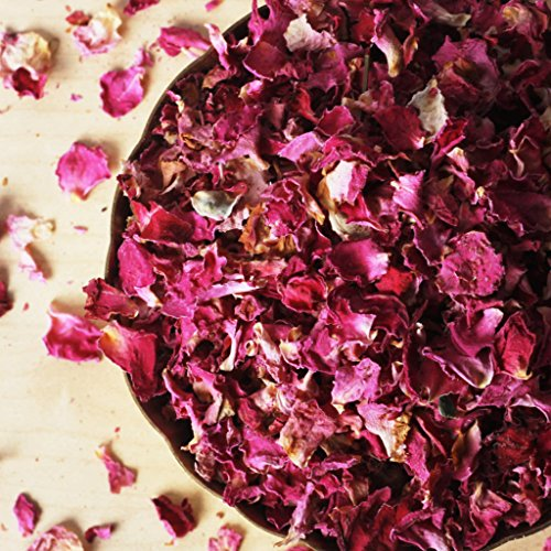 Organic Petals - Kasmira Valley Dried Rose Petals, Organic, Culinary-grade, Fragrant (3.2 oz)