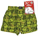 Men's Holiday Grinch Stole Christmas Sleep Boxer Short Dr. Seuss Gift Box (X-Large)