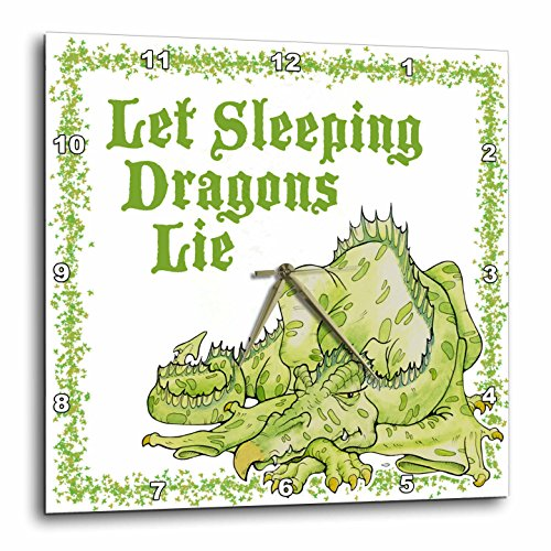 Dragon with Let Sleeping Dragons Lie Wall Clock,