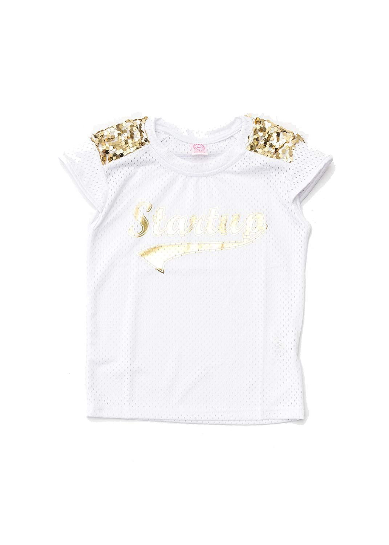 Bianco//Oro Startup Wear T-Shirt Basket Paillettes