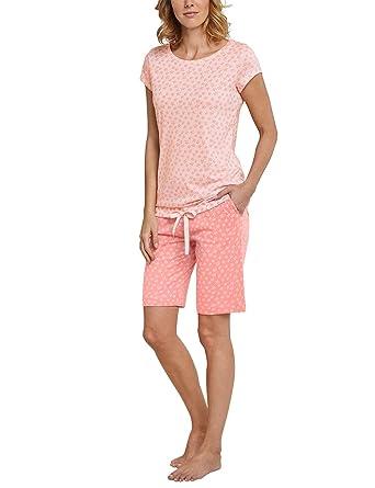 Pyjama FemmeRotsorbet Schiesser Bermuda14 Anzug De ArmBas X0PknwON8