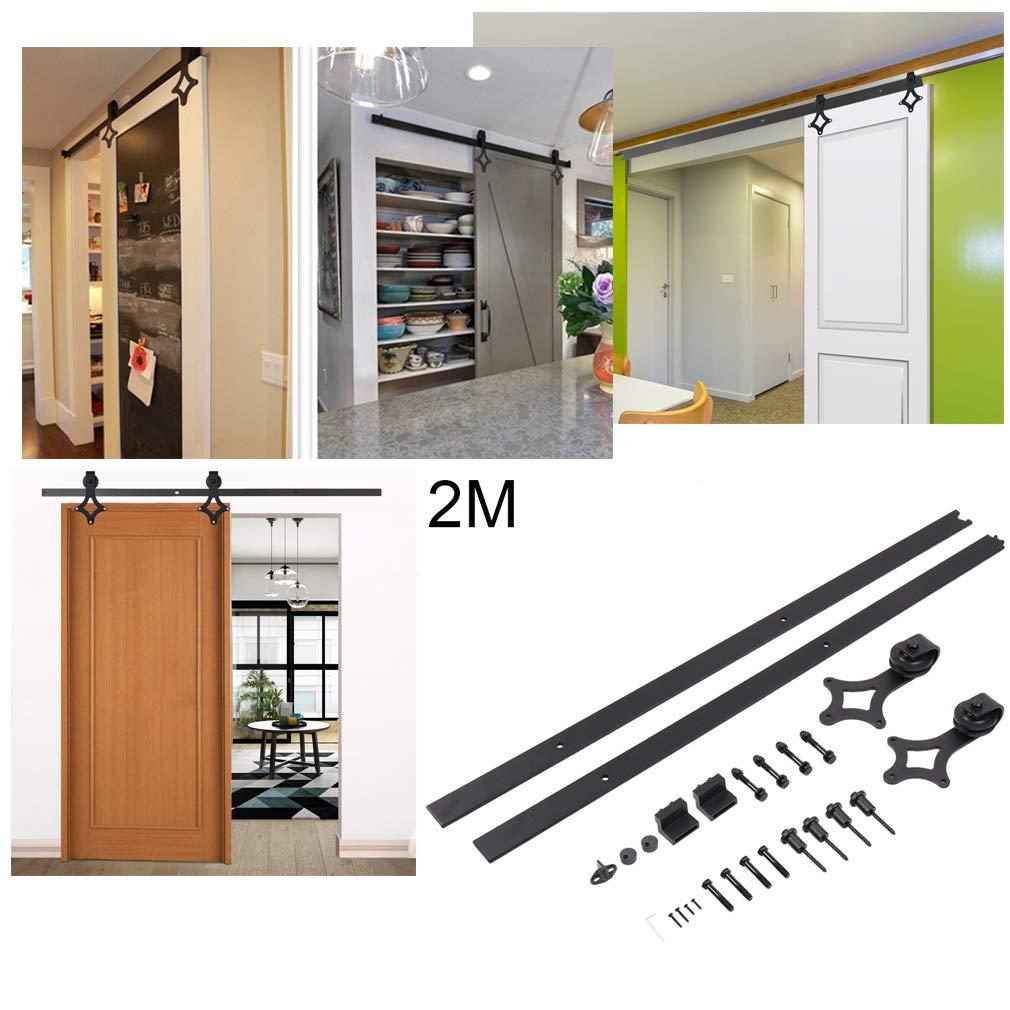 Cocina y Otras Puertas Correderas Balc/ón Accesorios para Puerta Deslizante para Ba/ño 6FT,183 cm Puerta de Corredera de Madera Dormitorio Tipo D