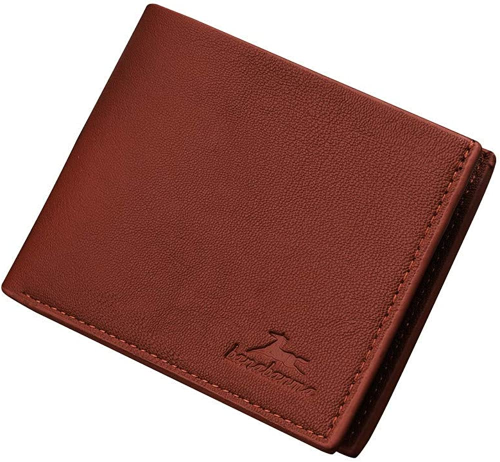 FAVARAL Homme Femme Porte-Monnaie Portefeuille en PU Cuir Porte-Cartes Cr/édit pliable Wallet Multi-Poches pochette Blocage RFID//NFC et Compartiment /à Billets Texture Classique