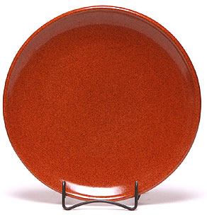 Dinner Coupe Plate, Copper Clay Pattern: Made in the USA | Emerson Creek Pottery