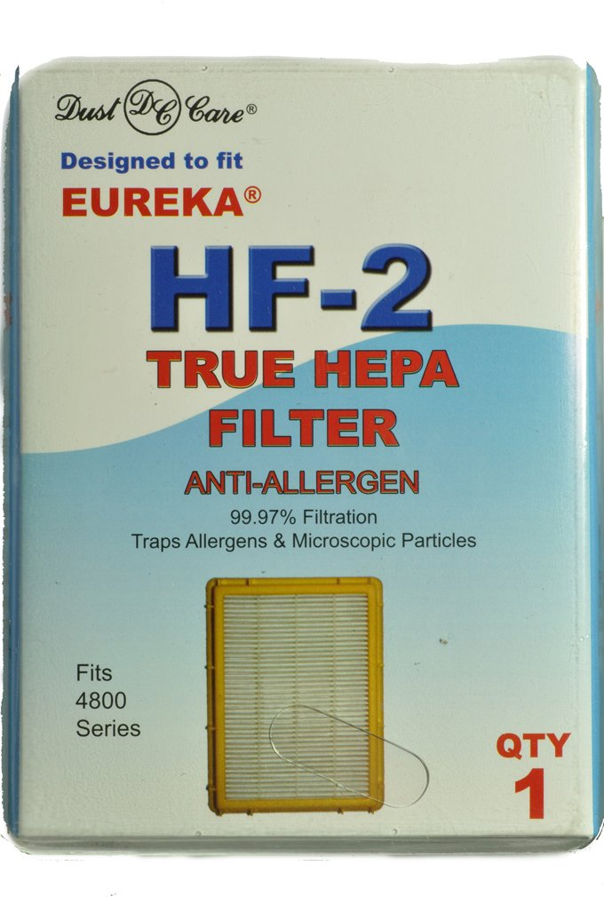 Eureka Upright Ultra Smart Vac True Hepa Filter, Dust Care Replacement Brand, designed to fit Eureka 4800 Series Vacuum Cleaners using Style HF2 filters