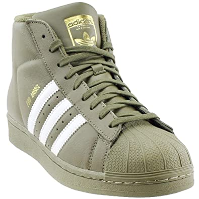 f3dafe27186f adidas Originals Pro Model Mens Shoes Olive White Gold ac7067 (9 D(