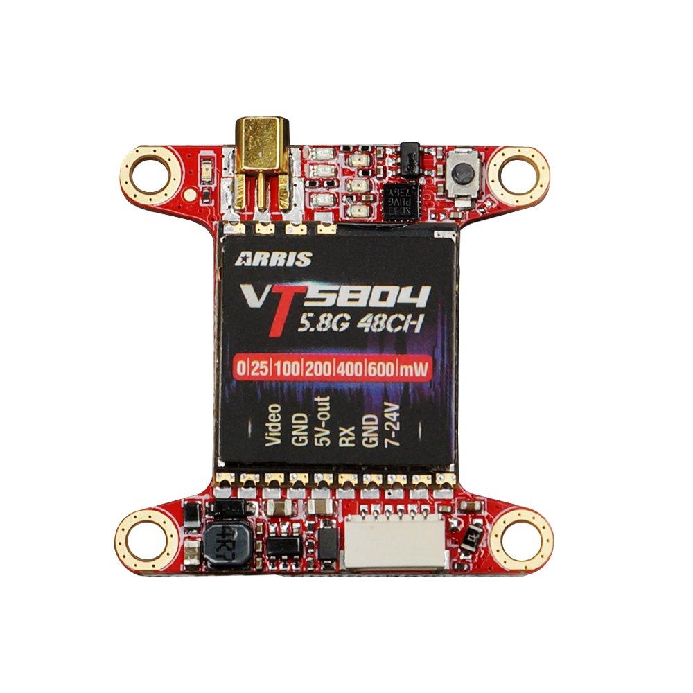 Transmisor ARRIS 5.8ghz VT5804 5.8G 48CH VTX Raceband Video Transmisor Conmutable 0mw / 25mw / 100mw / 200mw / 400mw / 6