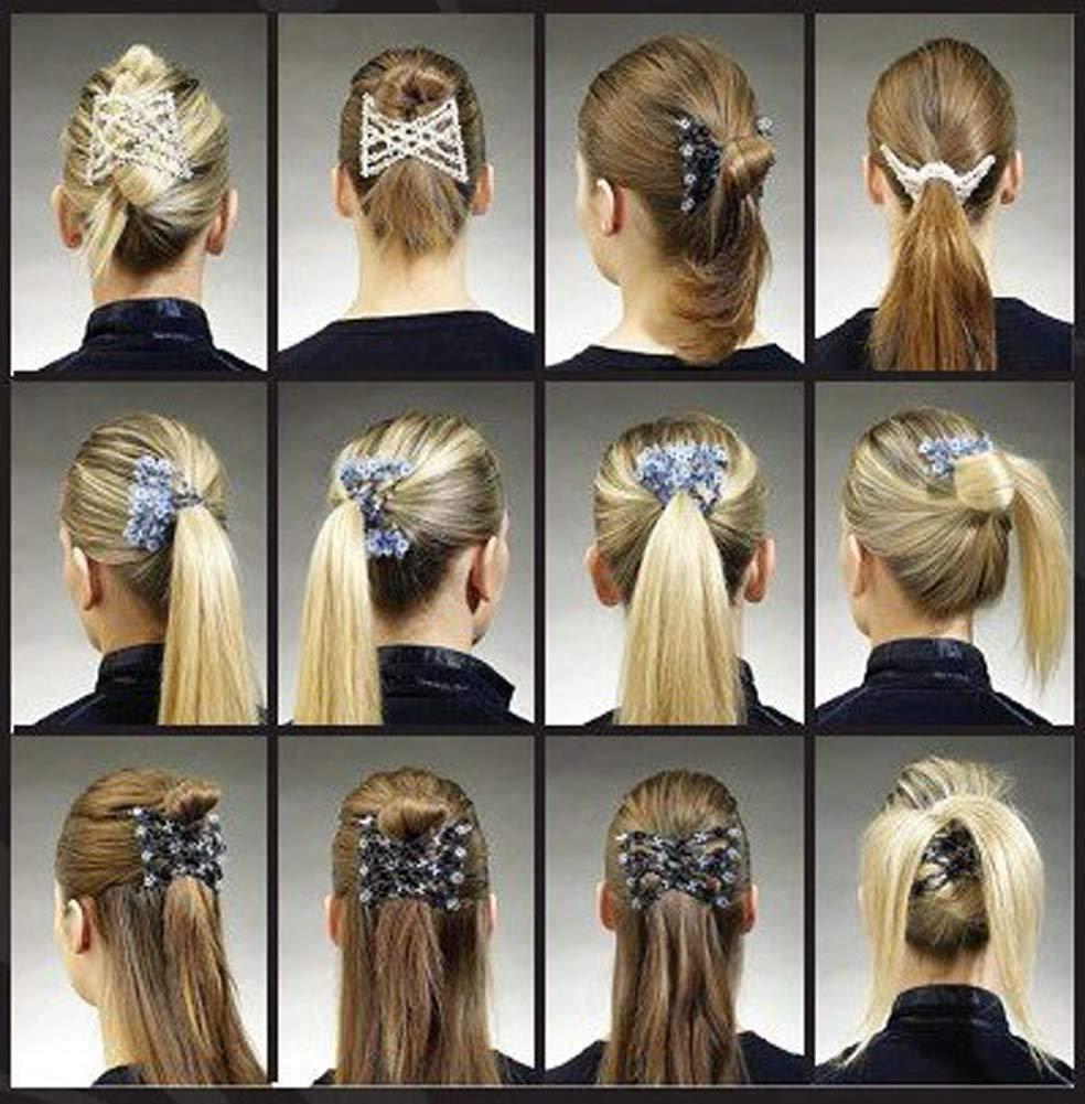 Shager Magische Haarspange, handgefertigte Haarklammer mit Perlen, dehnbar,  Kamm, Frisur, Haarnadeln, DIY, Accessoire für verschiedene Stile