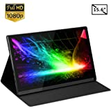 Eyoyo Portable Monitor - Eyoyo 15.6 inch USB C Monitor 1080P IPS LCD Monitor Laptop Second Display Screen for Computer Mac Phone Xbox Switch PS4 for Traveling Working Gaming
