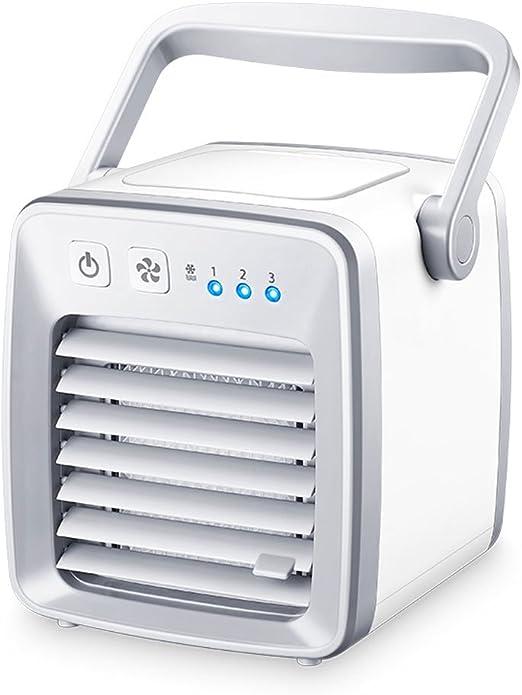 Refrigeración blanca Mini Ventilador de aire acondicionado Ventilador de escritorio Humidificación Inicio Dormitorio de estudiante Camara