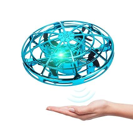 UFO Mini Drohne GEYUEYA Home UFO Fliegendes Spielzeug RC Fliegender Ball Mini Flugspielzeug Untertasse Drohne mit LED Infrarot Induktions Flying Ball Spielzeug Geschenke f/ür Jungen M/ädchen