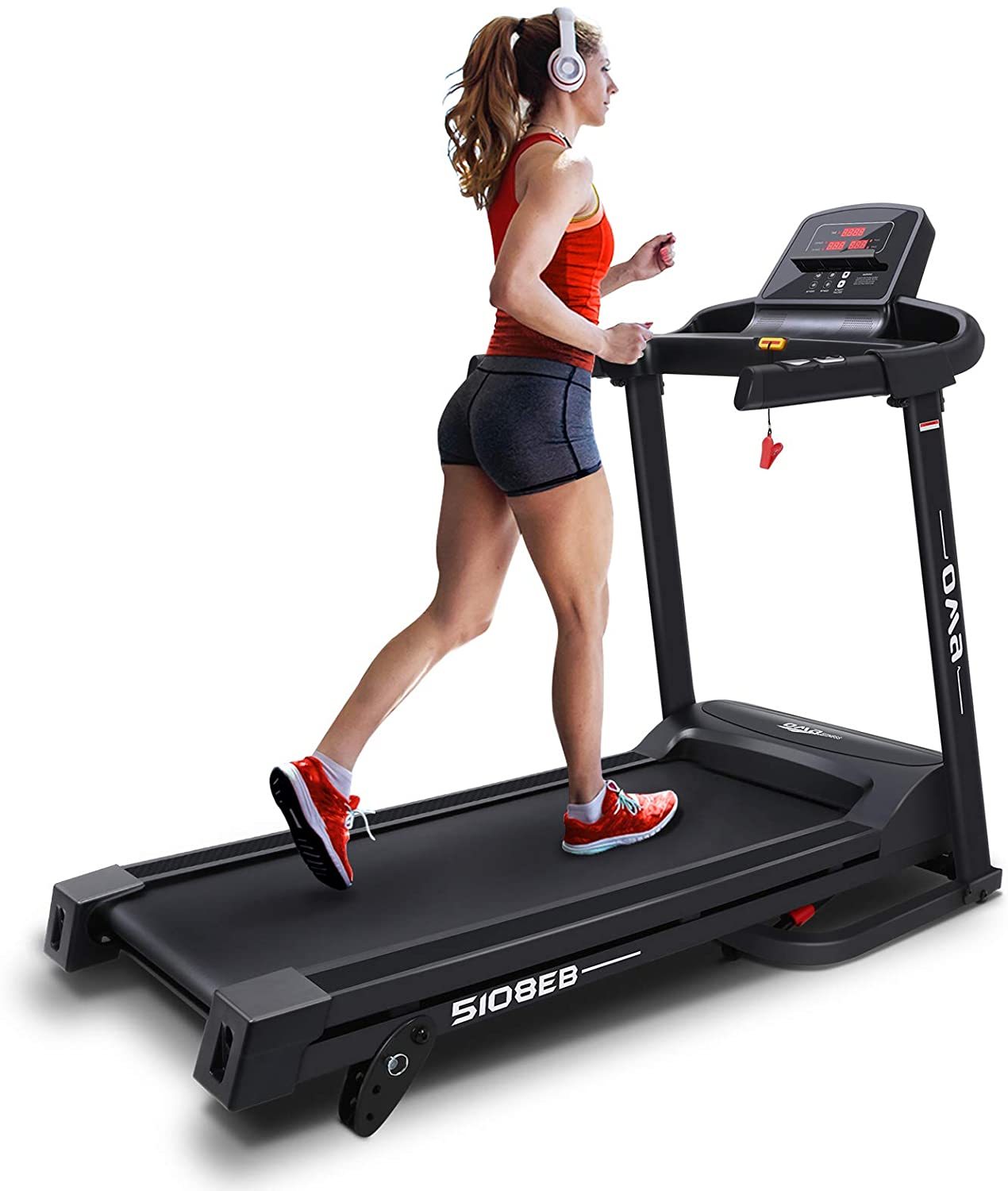 OMA Treadmills for Home 5108EB, Max 2.25 HP Folding Incline Treadmills for Running and Walking Jogging Exercise with 36 Preset Programs, Tracking Pulse, Calories - 2021 Updated Version