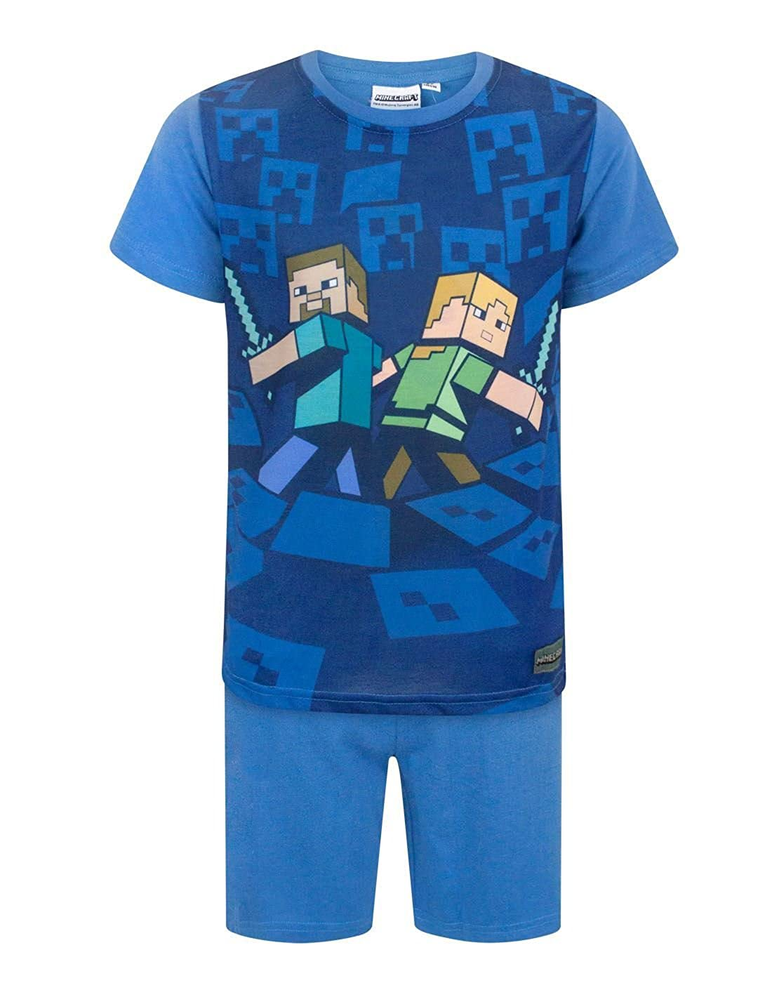 Minecraft Boy's Shortie Pyjamas 6 - 12 Years Various Styles Lamaloli
