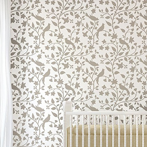 - Birds on a Vine Wall Stencil - Reusable Stencils for a Home Makeover