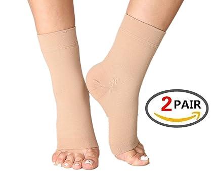 (2 pares) calcetines de fascitis Plantar con arco apoyo, mejor 24/7