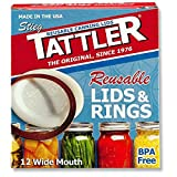 Tattler Reusable Canning Lids and Rings Wide Mouth
