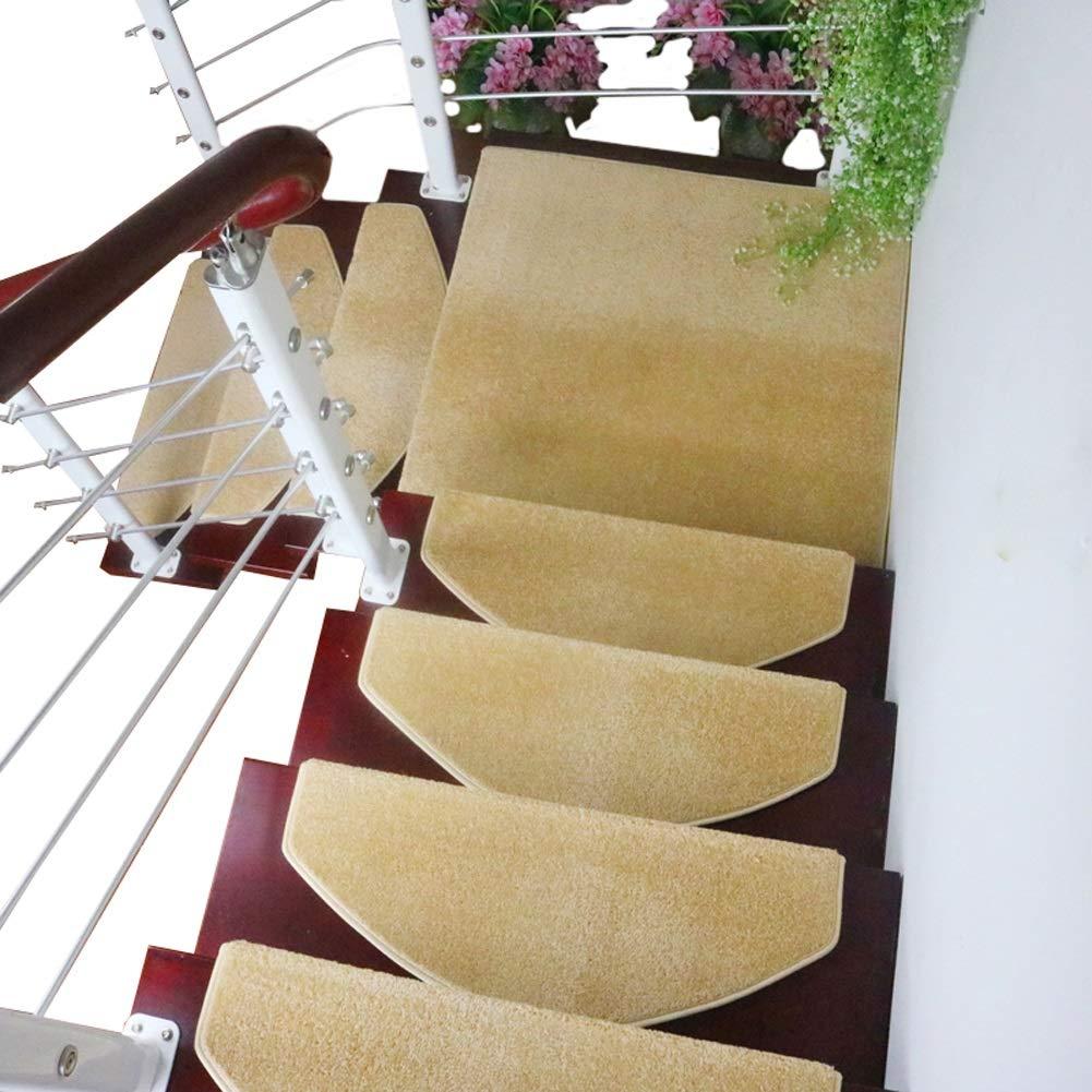 カーペット 11ミリメートル厚いステップカーペット屋内洗える滑り止めラグ階段トレッド、ドラゴン骨折側とマジックバックル底階段マット (色 : Set of 10, サイズ さいず : 75×24+3cm) 75×24+3cm Set of 10 B07MXV59SV