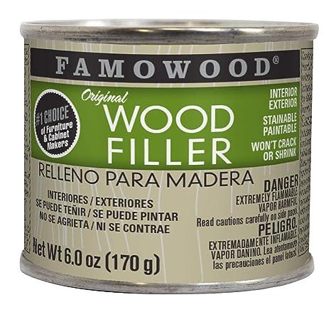Famowood 36141128 Original Wood Filler 1 4 Pint Oak Teak