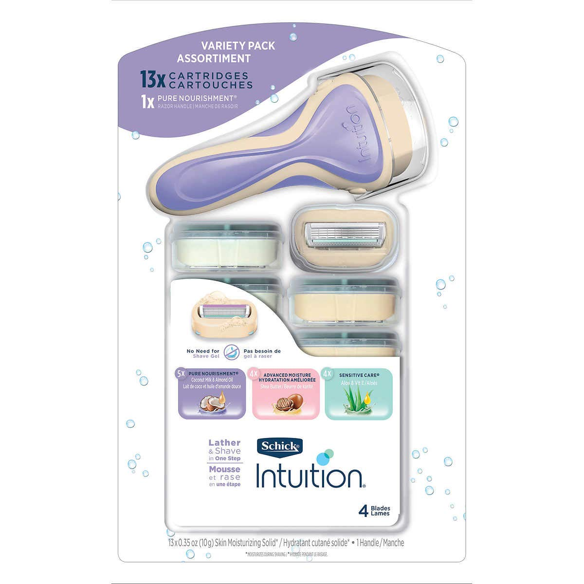 Schick Intuition Cartridges + Razor, 13 Count