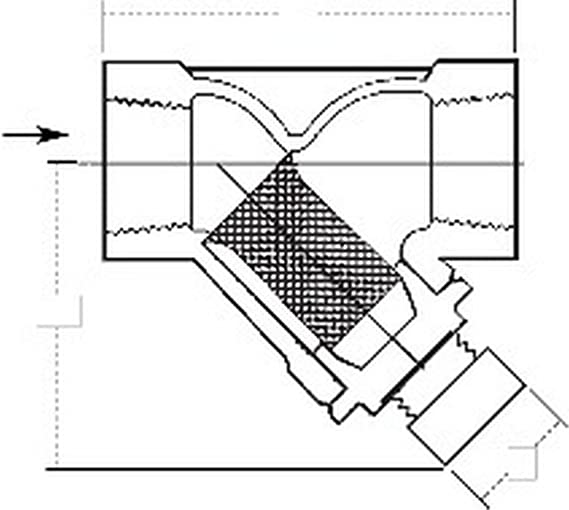 Watts 777 M1 60 38 Bronze Inline Water Filter Screen Strainer