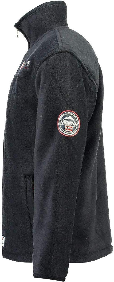 Geographical Norway con calda fodera in pelliccia da uomo taglia: da S a XXXL giacca in pile