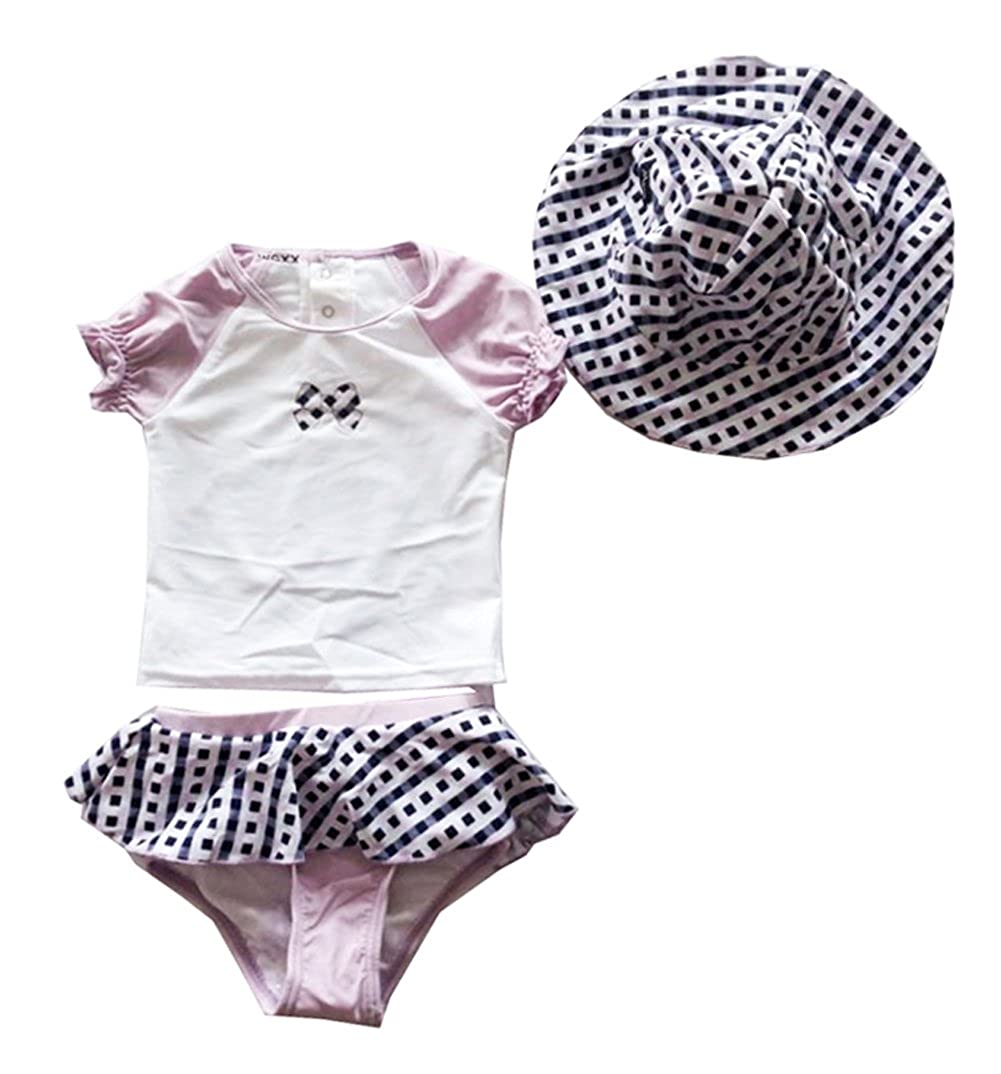 3pc Newborn Infant Baby Girls Swimsuit Tankini Swimwear Hat SET
