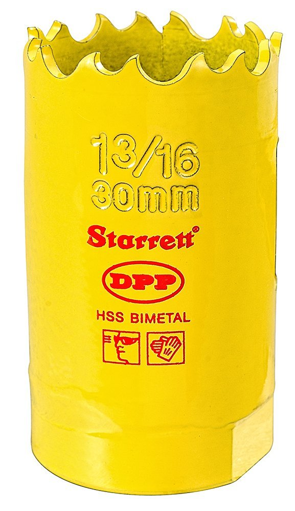 14 mm Starrett 63FCH014 Corona Perforadora Amarillo