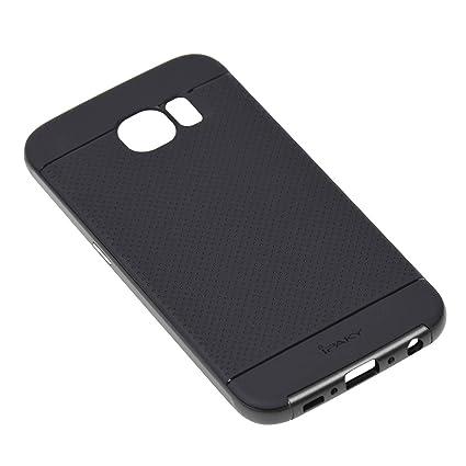 Amazon.com: Carcasa híbrida de lujo para Samsung Galaxy S6 ...