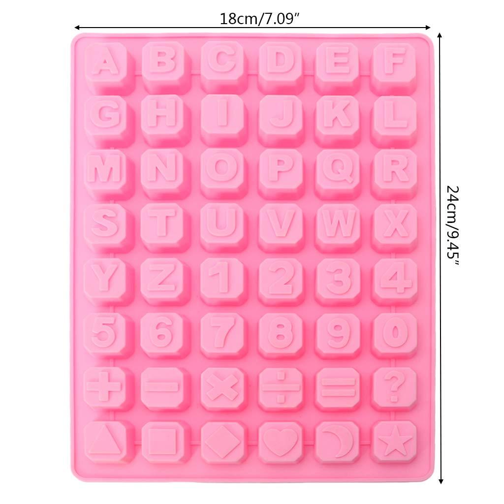 Manyo. Molde de Silicona para repostería, Cuadrado, 3D, Letra + ...