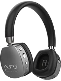 Puro Sound Labs PuroQuiet Kids Volume-Limiting Noise-Cancelling On-Ear Wireless Headphones (Gray)