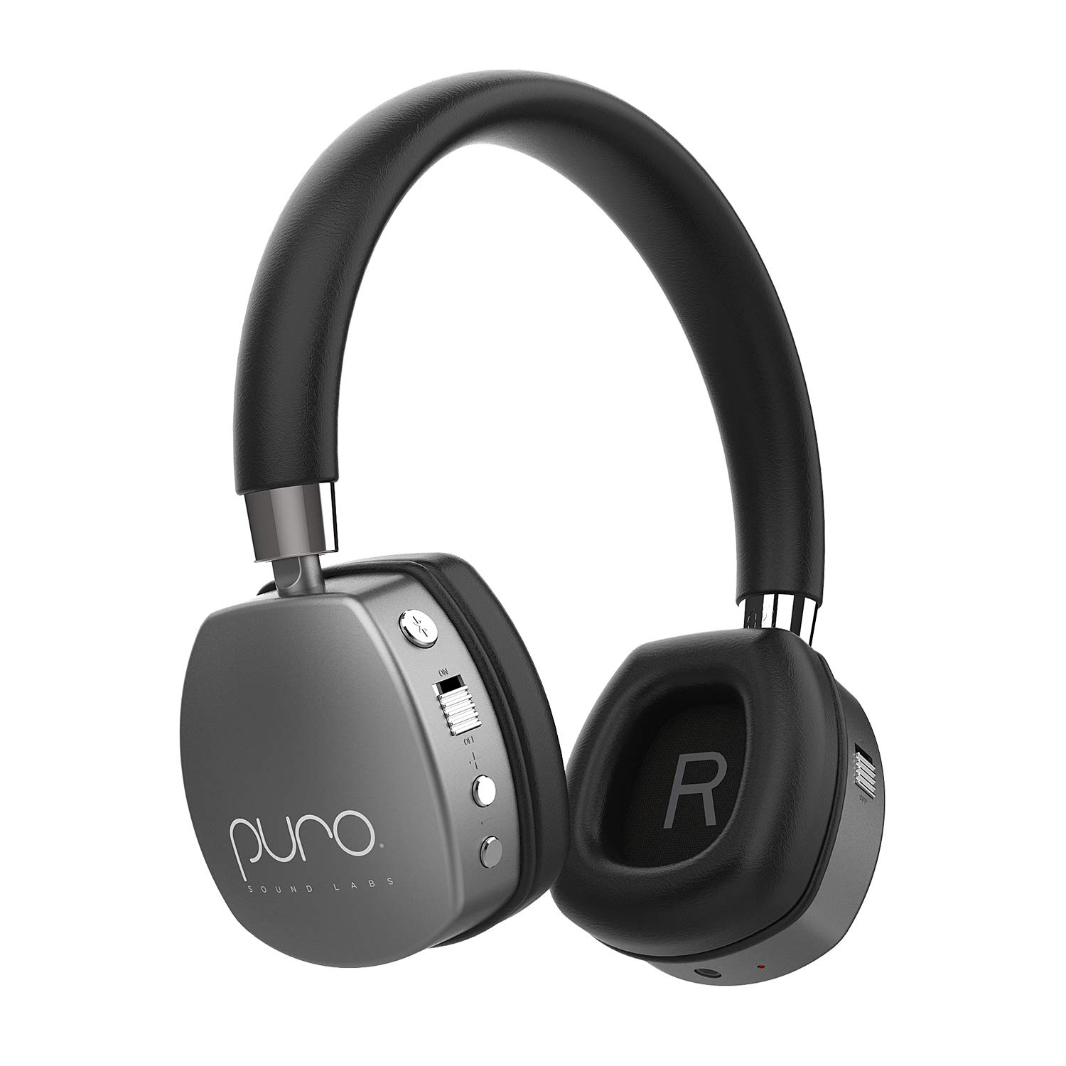 Puro Sound Labs PuroQuiet Kids Volume-Limiting Noise-Cancelling On-Ear Wireless Headphones (Gray) by Puro Sound Labs