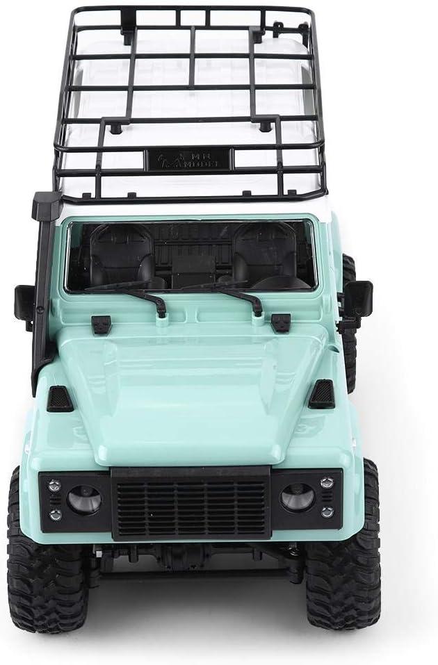 Jadpes Voiture télécommandée, 2.4GHz Télécommande modèle véhicule 1/12 Échelle RC Voiture Tout-Terrain avec Phare Camion Militaire Modèle Jouet Cadeau pour Enfant(Vert) Vert