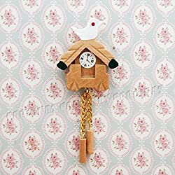 [Odoria miniature consumer electronics] 1/12 wooden bird wall clock living room furniture dollhouse decoration gift