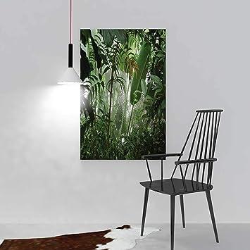 Nalahome Malerei Wohnzimmer Dekoration Rahmenlose Wasserfall In Der Mitte  Tropischen Dschungel Natur Scenery Landhaus Stil Grün