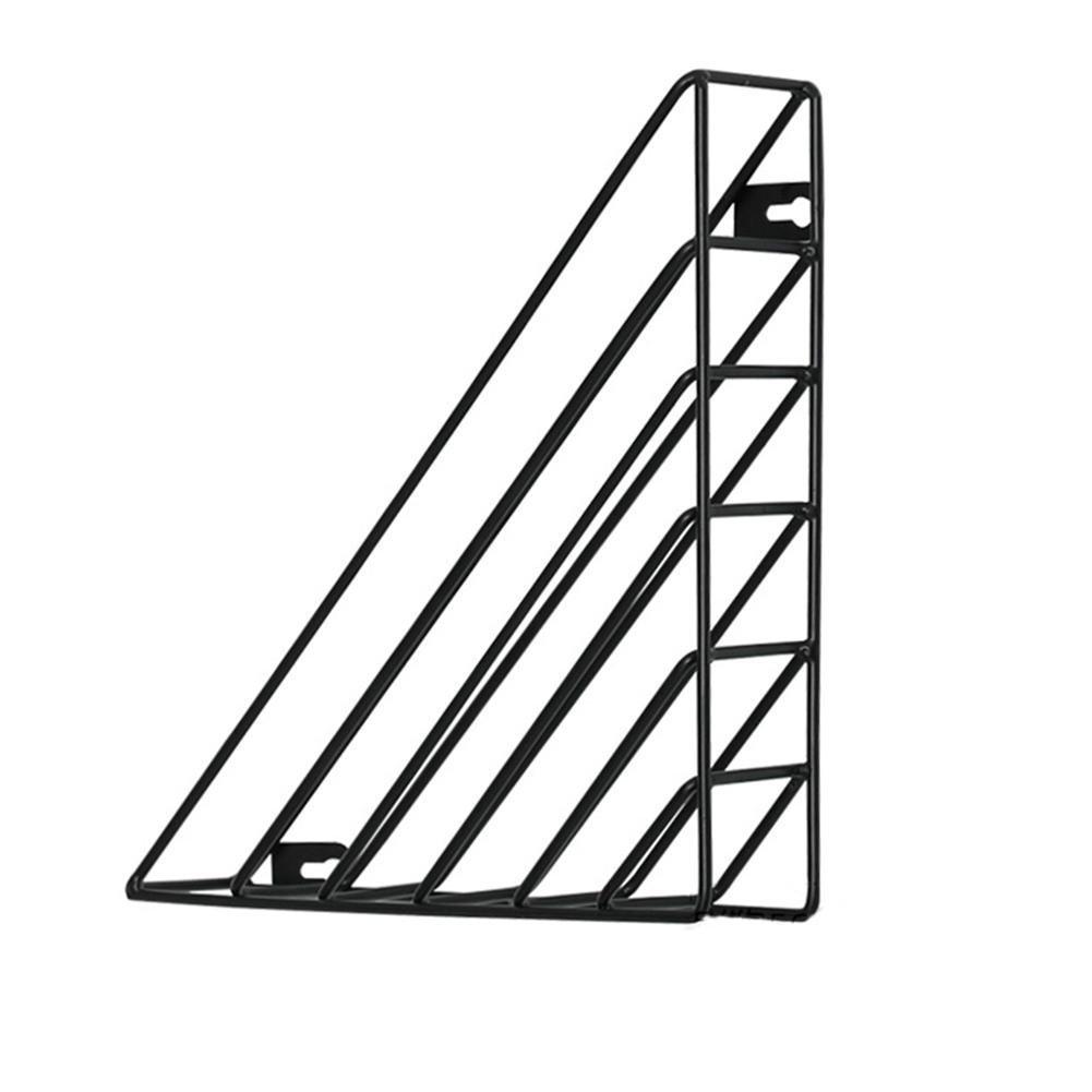 big-time Metal Wire Magazine Rack/Newspaper Rack/Desk File Rack,Iron Geometric MagazineRackWall Mount DesktopStorageOrganizer Storage Shelf for OfficeHome