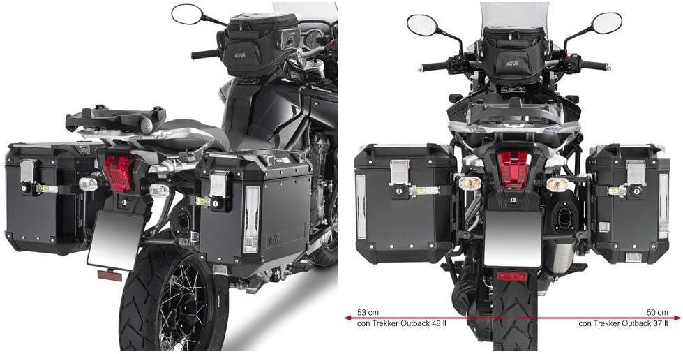 Givi - Soporte Tubular para Maleta Lateral Trekker Outback con Sistema de fijación monokey CAM-Side para Triumph, Tiger, Explorer 12002012