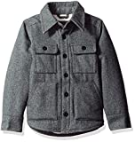 The Children's Place Big Boys' Classic Wool Coat, Gray, M (7/8)
