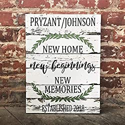 New Home Beginnings, Memories, Custom Home Decor, Rustic Country Decor, Family Canvas, Perfect Housewarming Gift