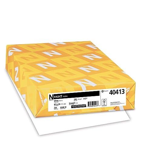 amazon com exact index cardstock 8 5 x 14 110 lb 199 gsm