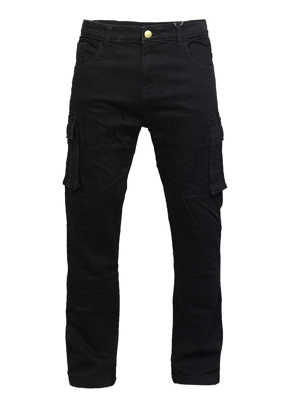 Great Size Range/… Armour Mens 6 Pocket Kevlar Black Motorcycle Denim Jeans//Cargo Pants